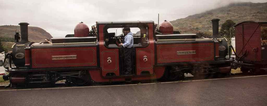 the Ffestiniog Railway which departs Blaenau Ffestiniog before making its way to Porthmadog