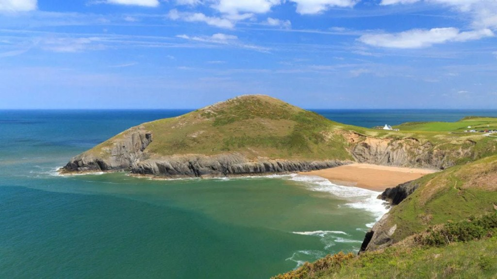 Mwnt Beach, a National Trust estate in Wales that's perfect for exploring with the family