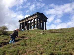 up the hill to penshaw monument