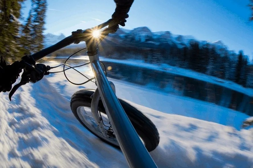Exploring with all-terrain snow bikes, one of many Winter activity ideas