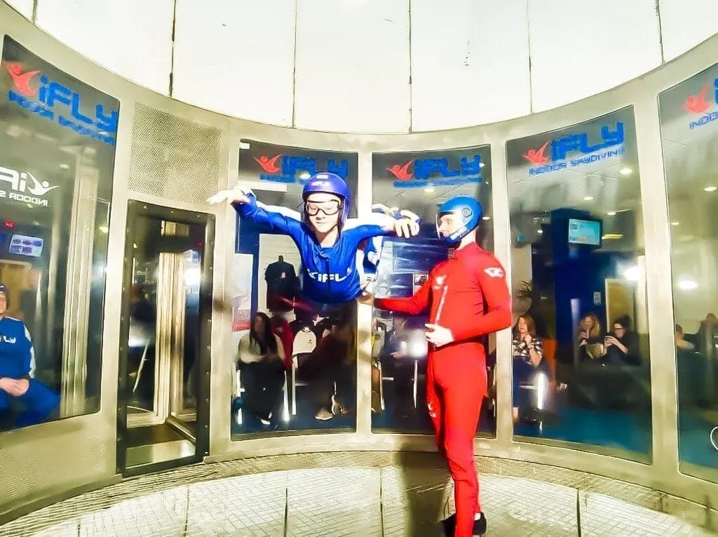 Indoor Skydiving   iFly, near Manchester's Trafford Centre.