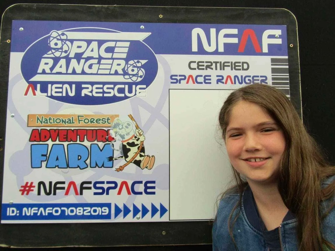 Moon Landing themed adventures at the National Forest Adventure Farm