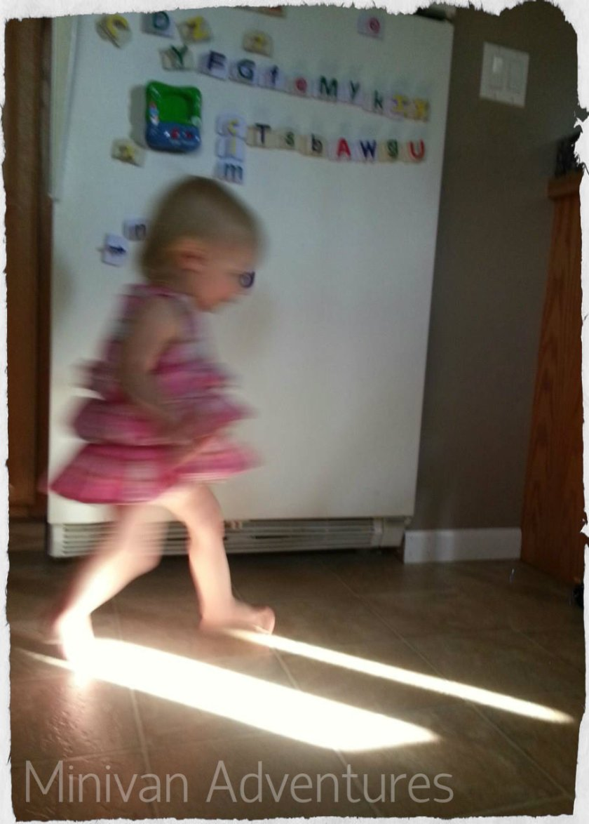 Beaming with Joy: My youngest was just over one year old when she first discovered her love of sunbeams.