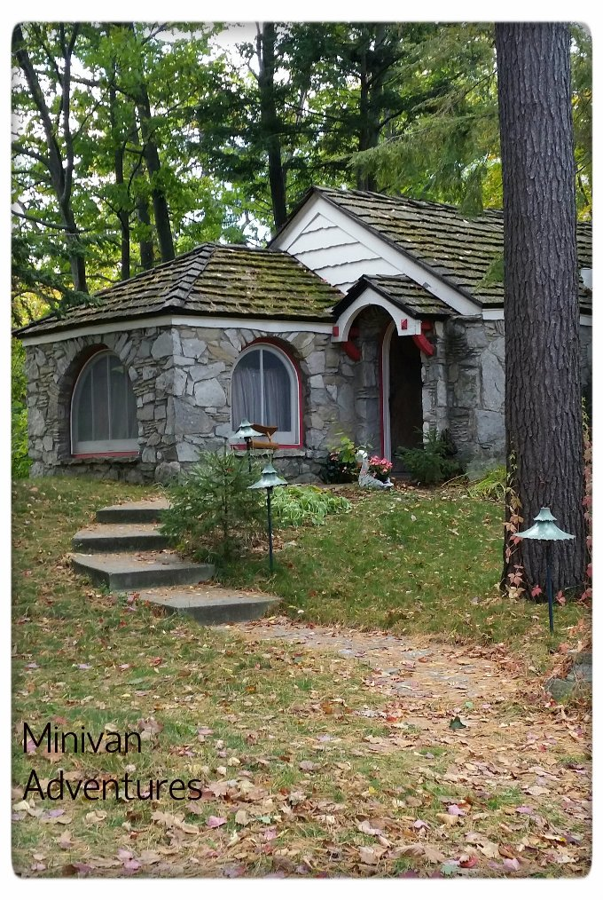 Young built this cozy stone cottage called Abide in the late 1930s.