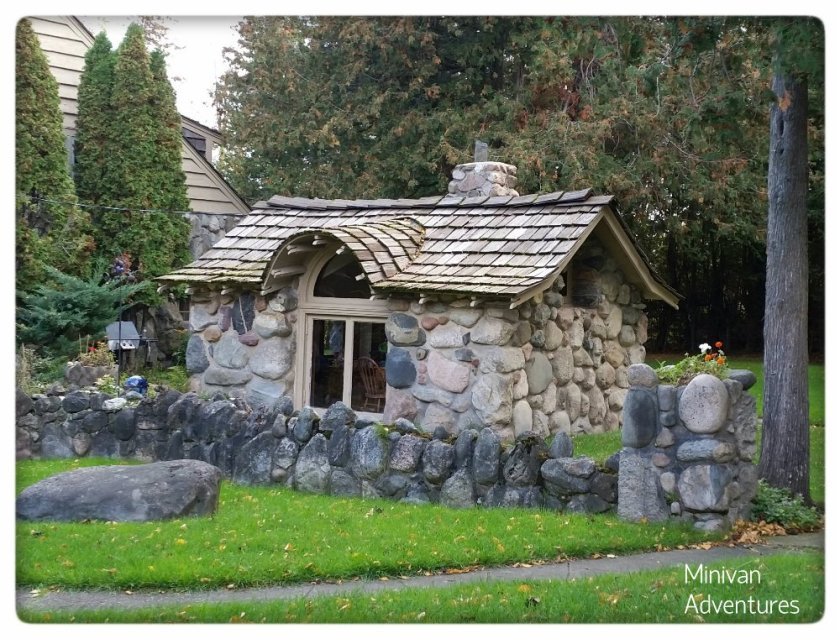 Young built this adorable little playhouse behind Boulder Manor for his daughters to play in with their friends.