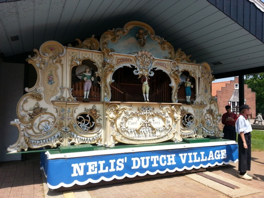Enjoy the sounds of the antique street organ from the Netherlands at Nelis' Dutch Village.