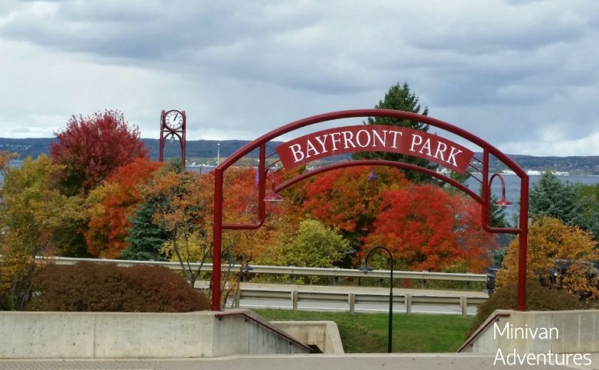 The Little Traverse Wheelway takes you right through Bayfront Park in Petoskey.