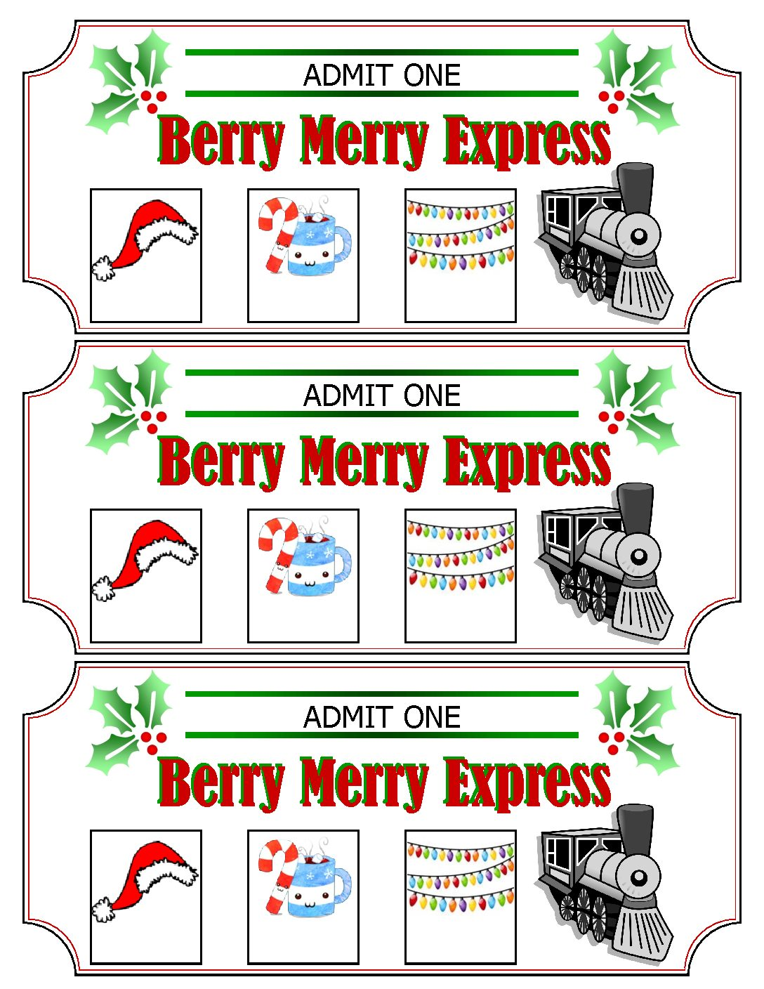 graphic regarding Polar Express Train Ticket Printable referred to as Berry Merry Specific Educate Tickets Minivan Adventures