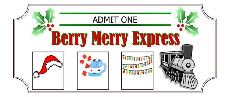 All aboard the Berry Merry Express! Children love this DIY adventure inspired by The Polar Express movie. *FREE PRINTABLE INCLUDED* ----- Polar Express Movie | Christmas Tradition | Holiday Fun | Hot Chocolate Optional | Christmas Lights | Merry Christmas | Holiday Cheer | Family Activity | Minivan Adventures