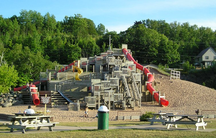 Chutes and Ladders Playground in Houghton, Michigan