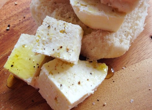roll with homemade cheese