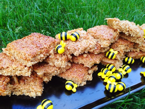 Finished honey flapjacks