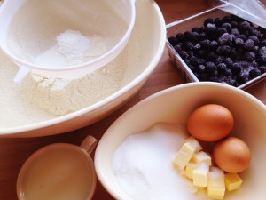 ingredients for muffins