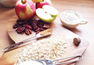 Healthy ingredients for apple fries