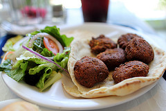Falafel in flatbread