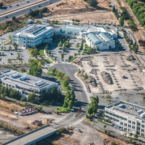 Client: Sutter Health - Aerial view of construction