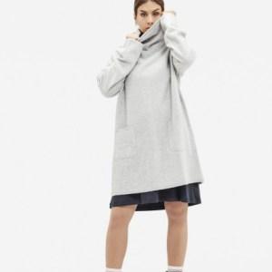 brushed wool tunic