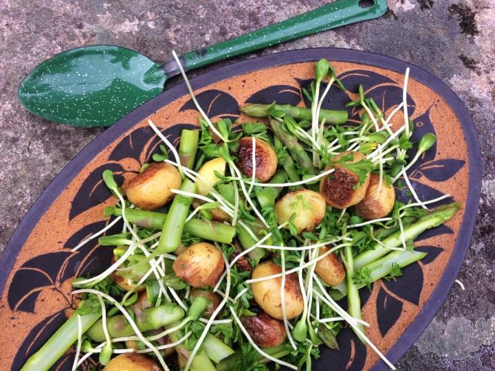 Lun salat med nye kartofler