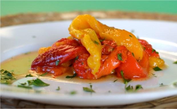 Peberfrugter bagt i ovn