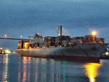 71517 ship on Savannah river by River Walk