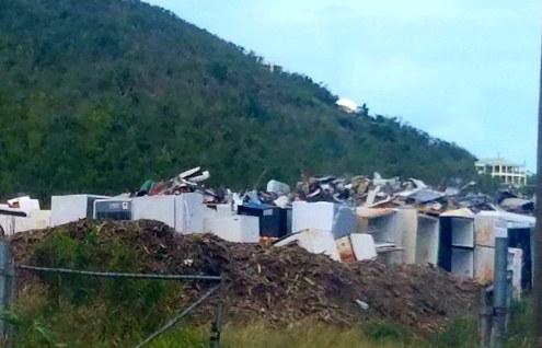 30518 st thomas piles of hurricane debris applianc2