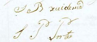 Handtekeningen onderaan de trouwakte