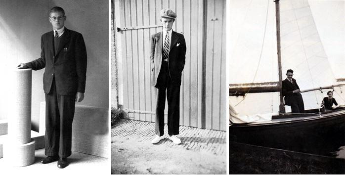 Foto links Gijsbert D. Boomsma (1944), midden Geert Leemburg, rechts Geert Leembur en Maartje van der Meer (1944)