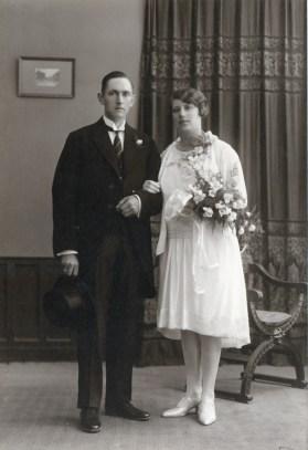 Echtpaar Hessel Pettinga en Johanna Froucina Blanksma (1929)