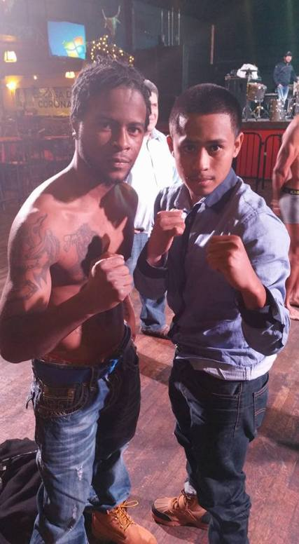 Jonathan Perez (right) and Antoine Knight