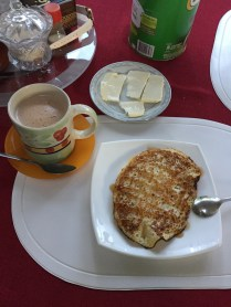 Pancakes and hot chocolate
