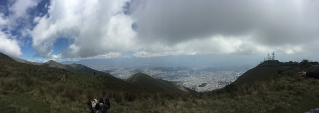 The view from the top of one of many volcanos
