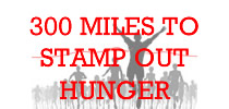 300 miles to stamp out hunger