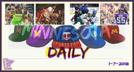 MINNESOTA SPORTS FAN DAILY: Sunday, January 7, 2018