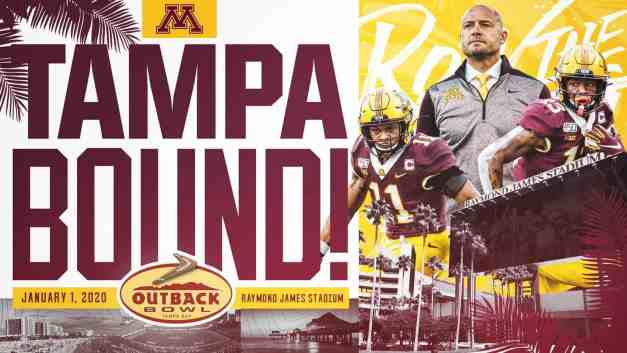 PJ Fleck and Players React to Outback Bowl Bid vs Auburn