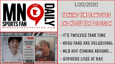 Tanking Timberwolves and NDSU Fan Delusion | #MSFDaily – LIVE (1/20/2020)