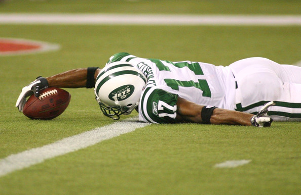 Photograph of Braylon Edwards with the New York Jets