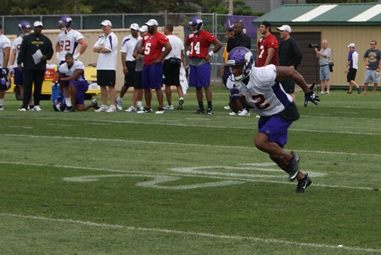 Minnesota Vikings 2011 Receivers: Photo of Percy Harvin during Training Camp