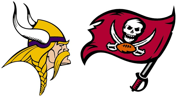 Graphic of the Vikings & Buccaneers logos