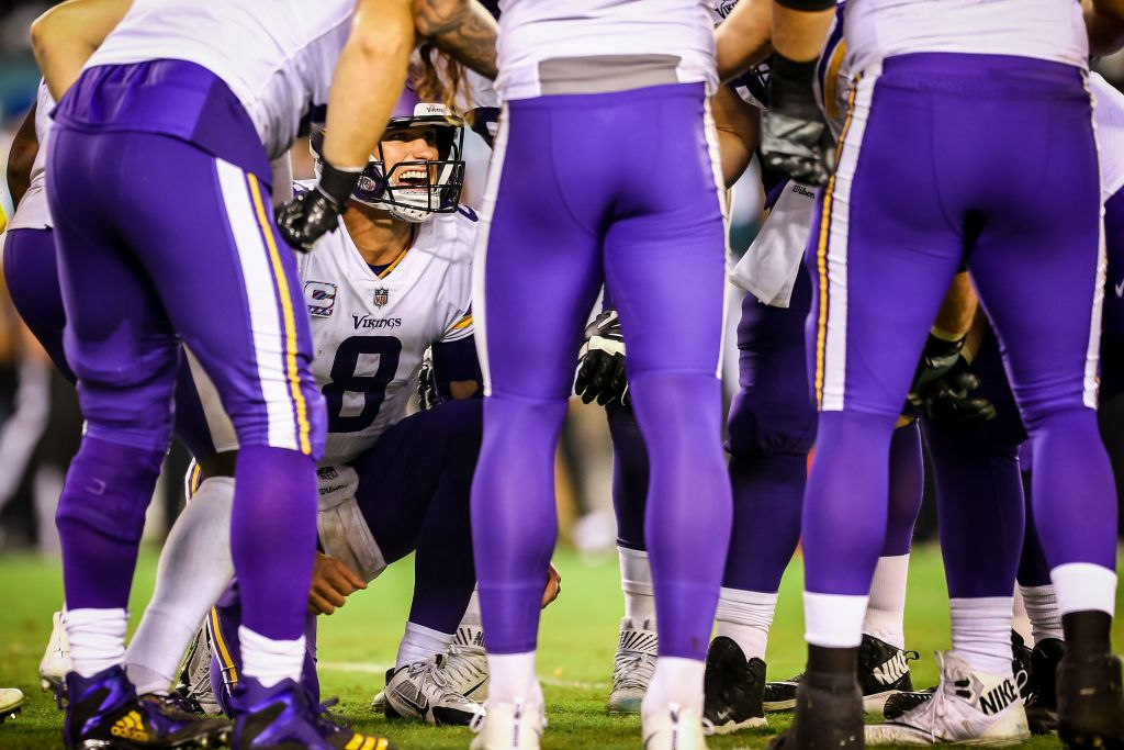 Photo: Kirk Cousins in the huddle