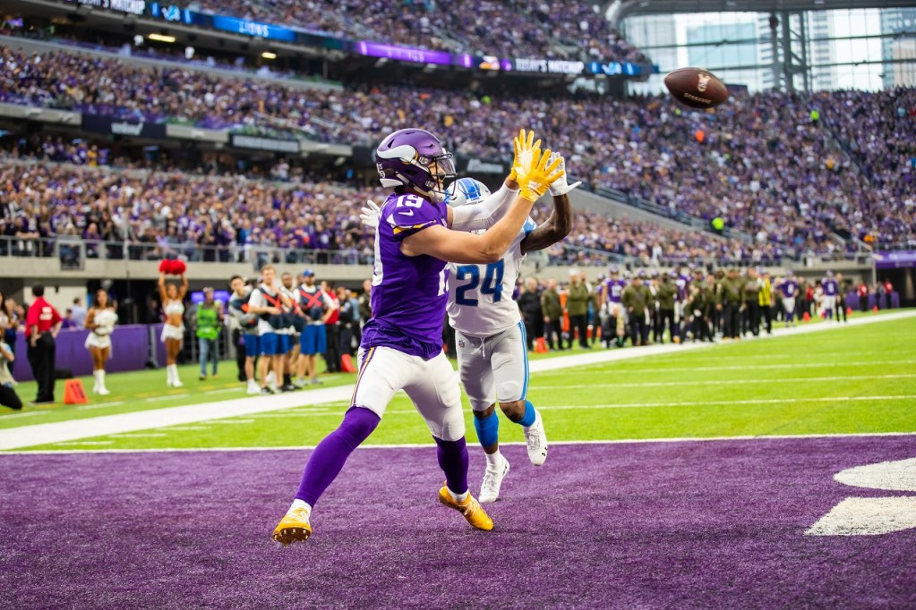Photo: Adam Thielen vs Detroit Lions