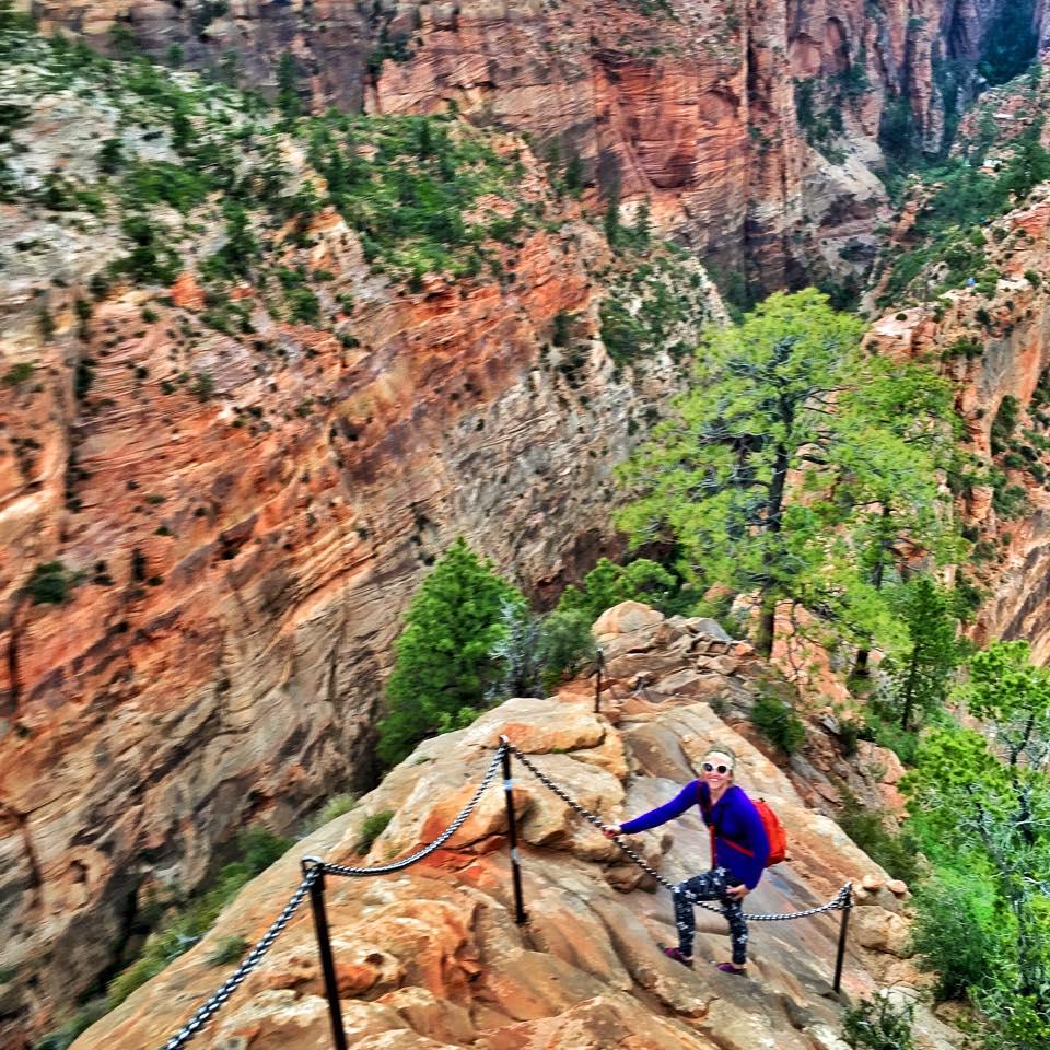 Climbing Angels Landing