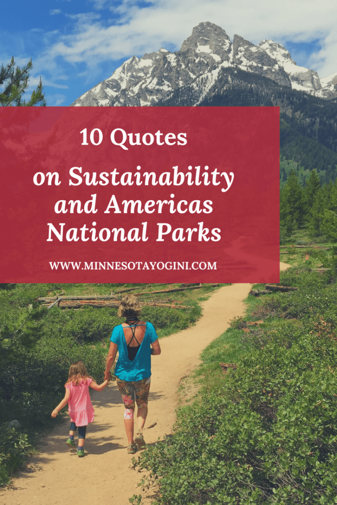 10 Quotes on Sustainability and the protection of Americas National Parks