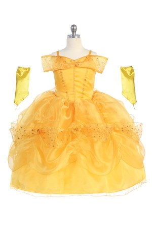 Belle inspired princess dress from Beauty and the Beast Belle from beauty and beast dress costume