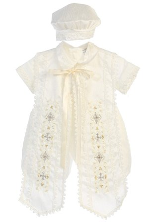baptism gown for boys, high quality religious