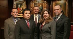 Left to right: Jonathan Strauss, Kenneth Fukuda, Mark Zitzewitz, Sonia Miller-Van Oort, and Lorenz Fett