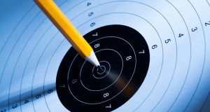 pencil and target