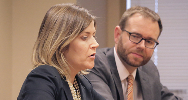 Catherine Ahlin-Halverson and Julian Zebot were on the Maslon team that secured a Texas inmate's release from death row. (Staff photo: Bill Klotz)