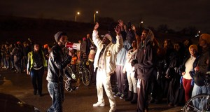 House and Senate bills increasing penalties for obstructing highway, airport or transit traffic await final floor votes. In this photo, demonstrators block a portion of Interstate 94 on Nov. 16, 2015, in Minneapolis after a police shooting. (AP photo: Star Tribune)