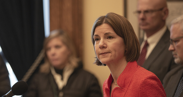 After leading in polls ahead of last week's primary election, Attorney General Lori Swanson placed third in the gubernatorial contest. (File photo: Kevin Featherly)