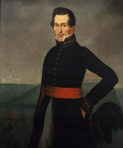 An oil painting of Indian agent Lawrence Taliaferro made around 1830. Taliaferro helped pressure the leaders of Upper Mississippi Valley Native communities into signing a series of ruinous treaties with the federal government in the 1820s and 1830s. (Submitted image: Minnesota Historical Society)